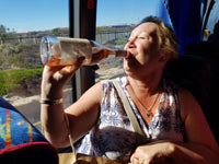 Australian Cricket Tour - A Happy Customer Drinking Wine From The Bottle. A Wineries Tour Of Stellenbosch Doesn't End Until The Bus Gets Home, Western Province, South Africa