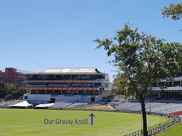 Australian Cricket Tours - Grass Embankment At Newlands Stadium, Cape Town, Where Our Match Tickets Are Located