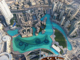 Looking Down On Dubai From Top of The World, Burj Khalifa.