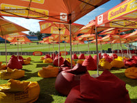 Australian Cricket Tours - The Bean Bag Family Area At Sahara Cricket Stadium, Durban, South Africa