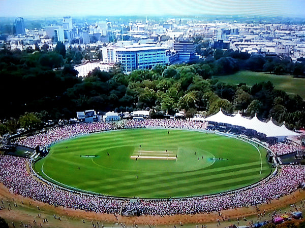 Australian Cricket Tours - Aerial View Of The Magnificent Hagley Oval Bathed In Sunshine, Christchurch, New Zealand