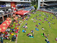 Australian Cricket Tours - The Family Embankment At Liberty Wanderers Cricket Stadium, Johannesburg, South Africa