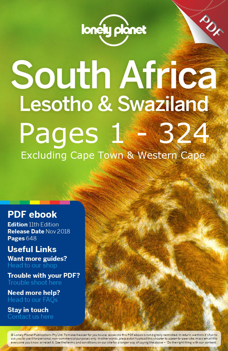 Australian Cricket Tours - South Africa Lonely Planet Travel Guide Pages 1 - 324