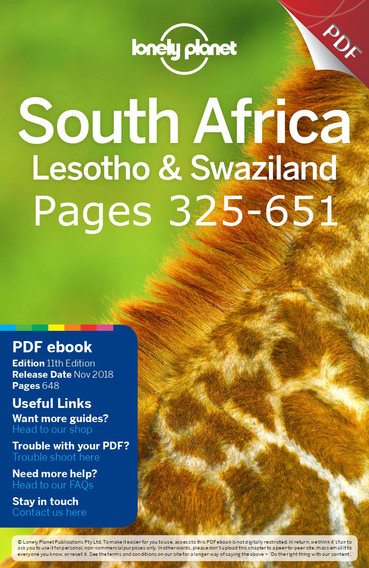 Australian Cricket Tours - South Africa Lonely Planet Travel Guide Pages 325 - 651