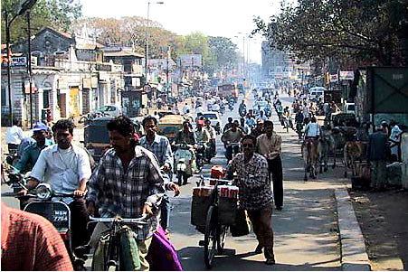 Australian Cricket Tours - The Traffic Congestion Of Central Avenue   Nagpur   India