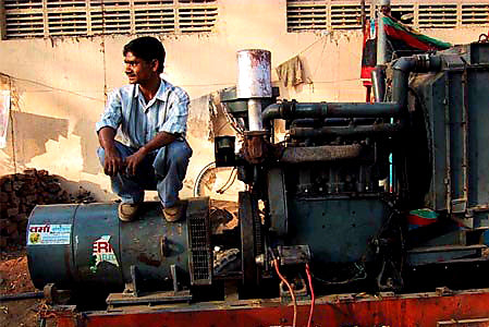 Australian Cricket Tours - A Groundsman Sits Upon His Tractor Unit At The Vidharbha Cricket Association Stadium | Nagpur | India
