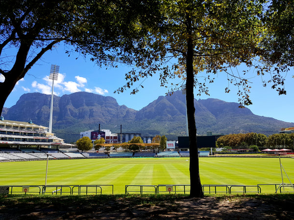 Australian Cricket Tours - The View Of Table Mountain And Devil's Peak From Under The Oak Trees At Newlands Cricket Cricket Stadium, Cape Town, South Africa