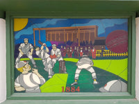 Australian Cricket Tours - The Stained Glass Window Of The Ticket Office At St George's Park Cricket Stadium, South Africa