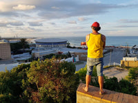 Australian Cricket Tour - A Happy Customer Looking Wistfully Out To Algoa Bay From The Balcony Of The Chapman Hotel, Port Elizabeth, South Africa