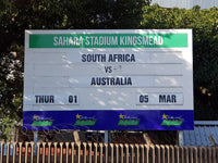 Australian Cricket Tour - The Billboard Announcing The Fixture, Australia v South Africa Outside Sahara Cricket Stadium, Durban, South Africa