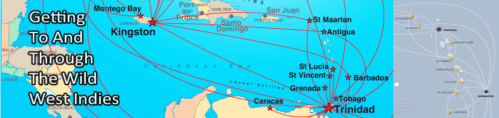 Australian Cricket Tours - Caribbean Airlines And LIAT Route Maps Through The Islands