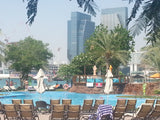 The Backyard Of Le Meridien Abu Dhabi, The Swimming Pool & Arabian Sea
