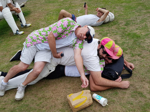The Boys Weary After A Night Celebrating Victory In The Steve Werren Invitational Golf Tournament In Oxford