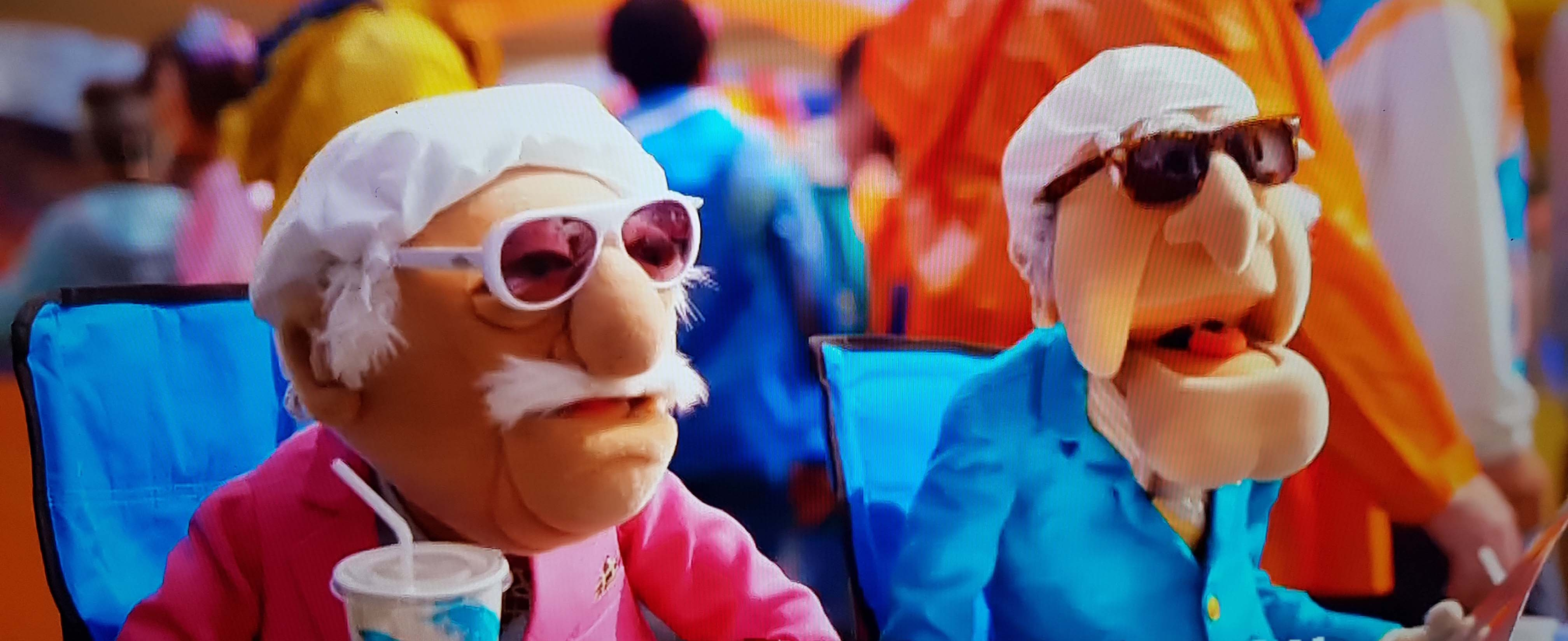 Australian Cricket Tours - The Muppets' Baclcony Hecklers, Waldorf & Statler Sitting At The Cricket In England