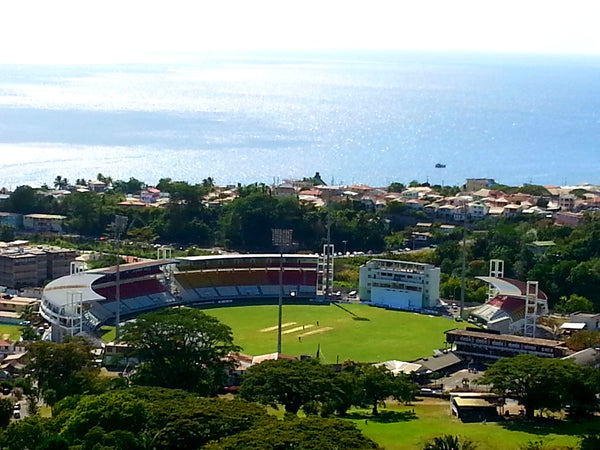 Australian Cricket Tours - The View Of Windsor Park Cricket Ground In Dominica From Morne Bruce Viewpoint
