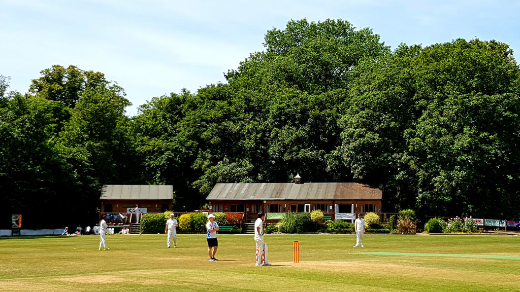 Australian Cricket Tours - Nepotists Cricket Club Legend Damian Tambling Looks To Drive Through Covers To The Lovely Pavilion Of Shepperton Cricket Club