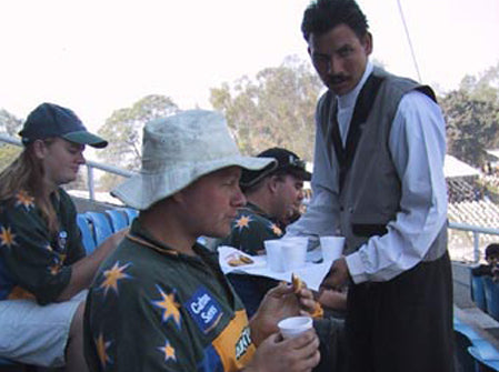 Australian Cricket Tours - In Seat Service At The Cricket In India Is Stylish When Coffee & Biscuits Is Delivered To Order