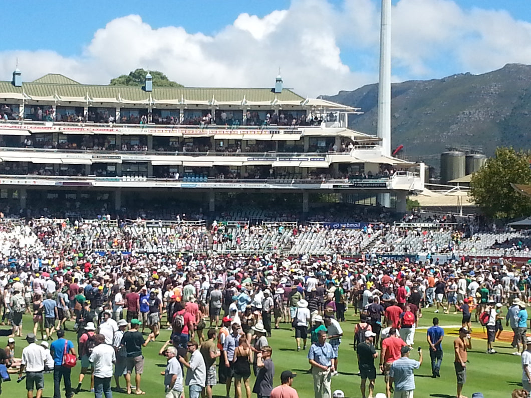 Australian Cricket Tours - The Lunch Break At Newlands With Thousands Of Spectators On The Field