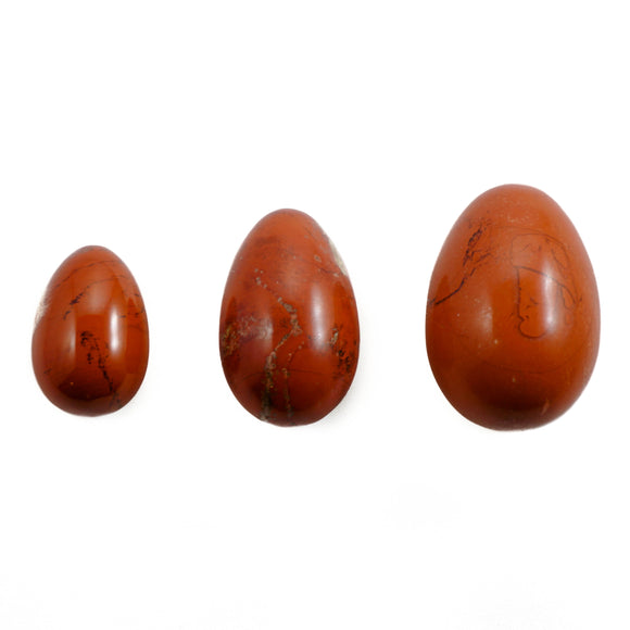 Red Jasper Yoni Eggs- Set of Three
