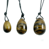 Tiger's Eye Yoni Eggs- Set of Three
