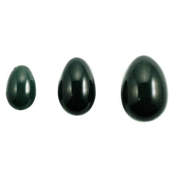 SALE! Nephrite Jade Yoni Eggs- Set of Three