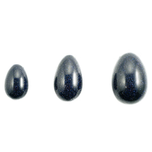 Blue Goldstone Yoni Quartz Eggs