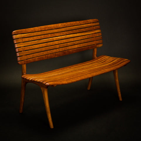 Cherry Slat Bench