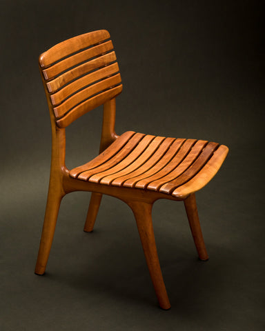 Open Back Slat Dining Chair