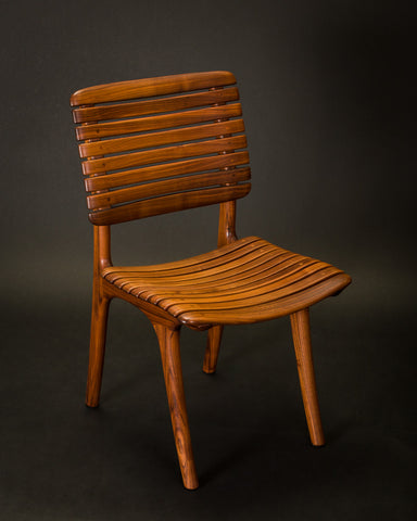 Walnut Slat Dining Chair