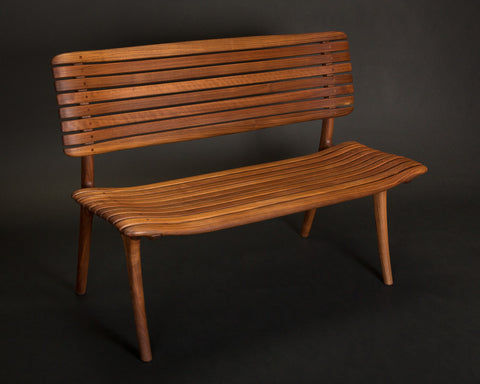 Walnut Slat Bench