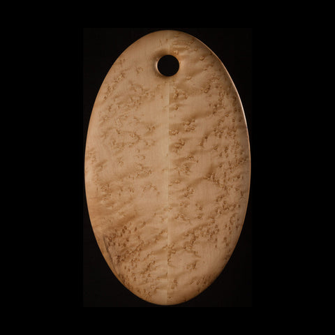 """Primo"" Small Oval Bird's-Eye Maple Cutting Board"