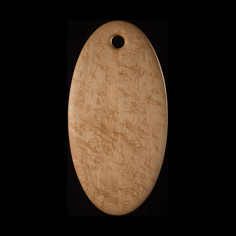 """Primo"" Large Oval Bird's-Eye Maple Cutting Board"