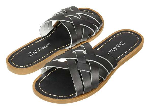 Salt-Water Retro Slide (Ladies) - Black