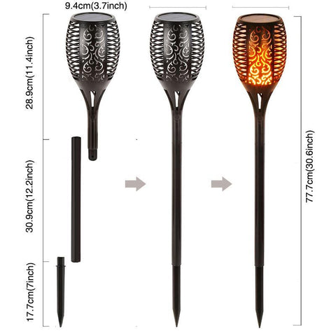 Flickering Solar Flame Light - 30% OFF!