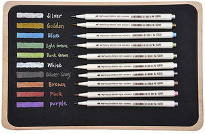 STA Metallic Markers Deluxe™ - 10 Vibrant Colors