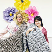 Arm Knitting classes in Central London - Arm Knit a Blanket at London's Top Craft Venue