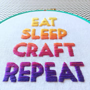 Beginners Embroidery Ombre Lettering Embroidery Classes in London