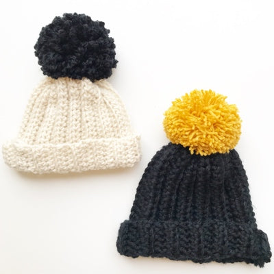 Learn to Crochet - A Crochet Hat with Pom Pom