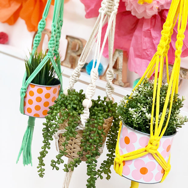 ONLINE Learn Macrame and Make a Plant Hanger Workshop