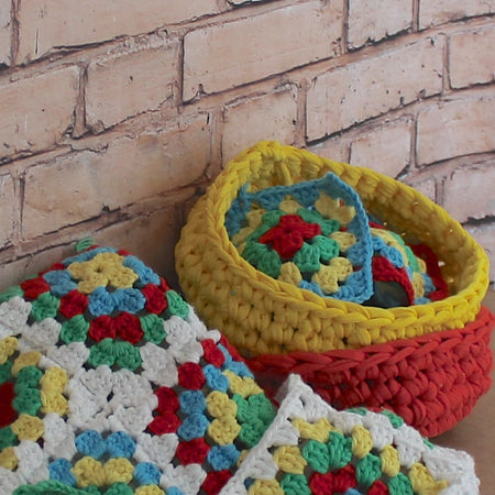 Crochet Bowls & Make Your Own T-Shirt Yarn