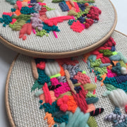 Abstract Embroidery - Statement Hoop