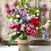British Flower Week - Beautiful Jam Jar Flower Arranging