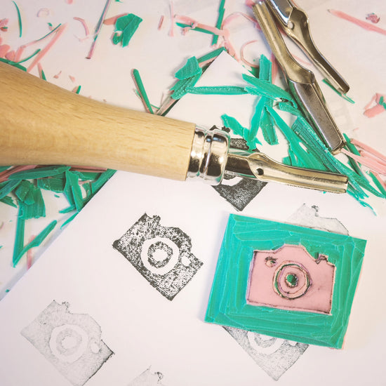 ONLINE Lino Printing Workshop Virtual Live Streaming printing  workshops by Tea and Crafting