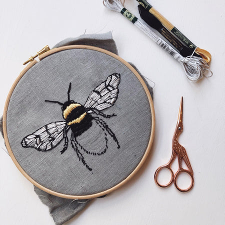 Beginners Embroidery - Stitch yourself a Beautiful Bee