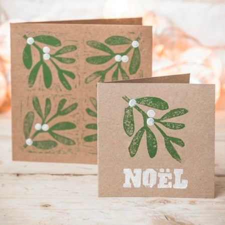 ONLINE Block Print your own Holiday and Christmas Cards!