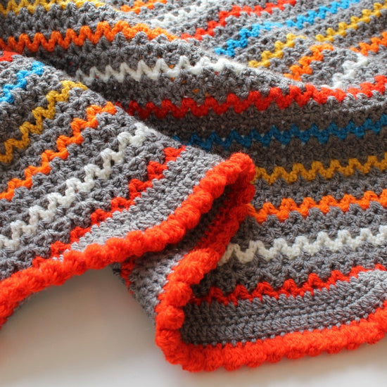 Beginners Crochet - Learn to Crochet a V Stitch Blanket