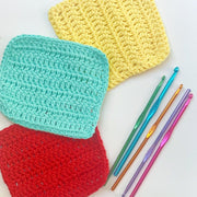 Learn to Crochet Online - we post out a kit and teach you live how to crochet via Zoom