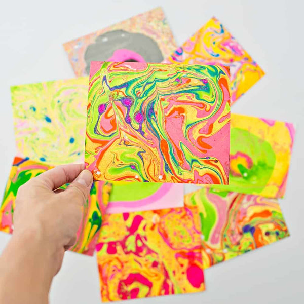 Children's May Half Term Craft Class - Paper Marbling
