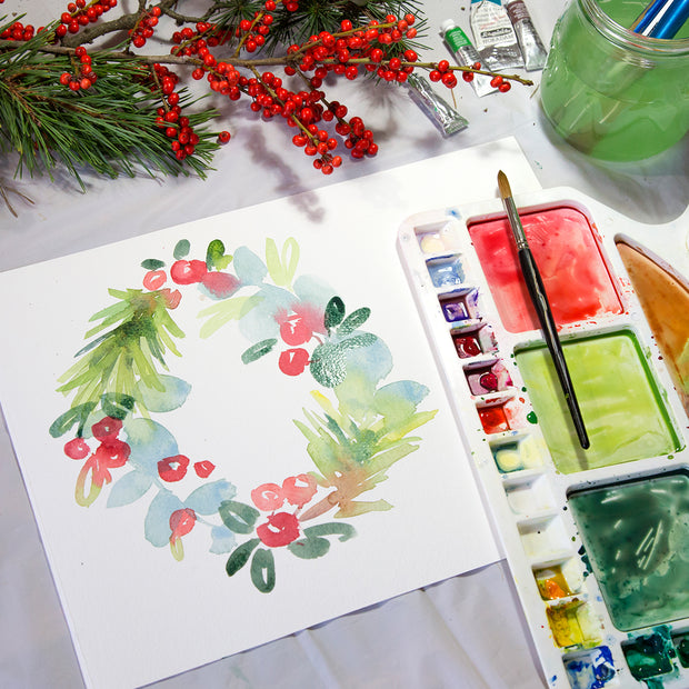 Beyond Beginners Watercolour Painting - Paint a Festive Wreathe