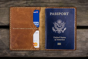 Leather Luggage Tag & Passport Holder